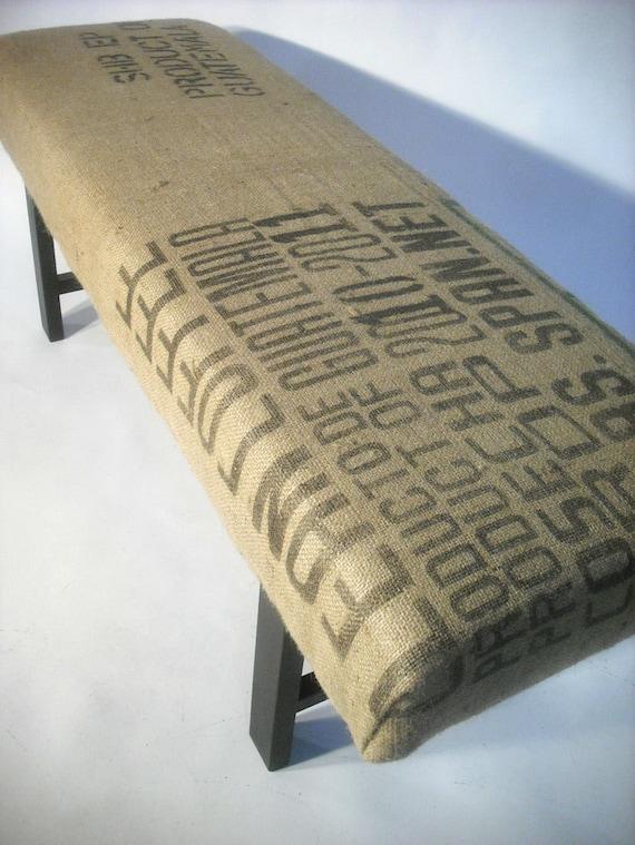 Re-Purposed Guatemala Coffee Sack Bench
