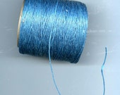 Turquoise  Waxed Cord Thread 5 yards