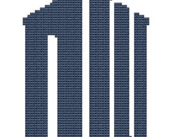 New Dr Who logo cross stitch pattern pdf file