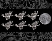 Silver Plated Flying Cherub Charms, Set of Six  S-C79