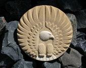 Vintage 1980s Bald Eagle Ceramic Wall Plaque
