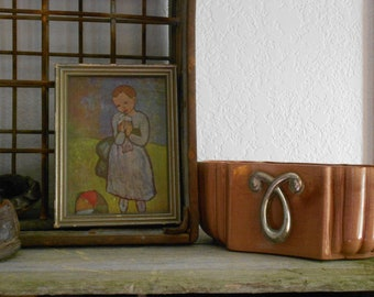 Vintage Mid Century Red Wing Ceramic Planter