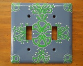 Double switch plate cover...