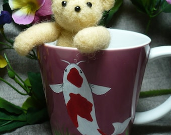 Teddy Bear, Needle Felted, Small Fully Jointed