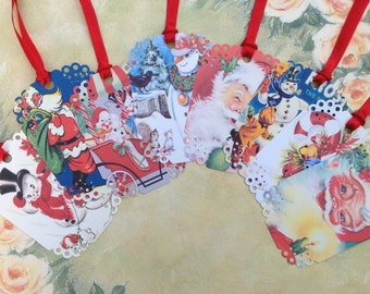 A Very RETRO Christmas Gift Tags set of 8 No.438