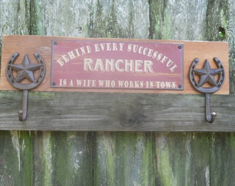 IN STOCK*****Coat Rack/Home Decor/Home Furnishings/Cowboy Hat Rack/home Decor/Rustic Western Sign/Wall Decor/Cast iron/FarmHouse
