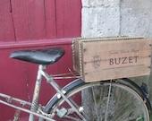 French Wine Crate Bike Basket