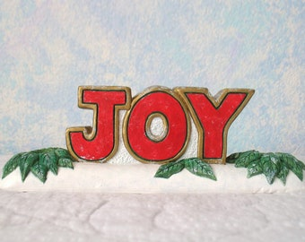 Handpainted Plaster Candle Holder, Joy