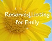 Reserved Listing for Emily