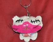 Zombie Felties undead little feline Zombie Kitty keychain charm FREE SHIPPING.