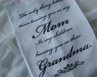 Grandma tea towel - You personalize - Kitchen flour sack towel - Mother's Day Gift