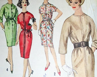 Vintage Simple to Make Dress Sewing Pattern Simplicity 4590 Size 16 Bust 36