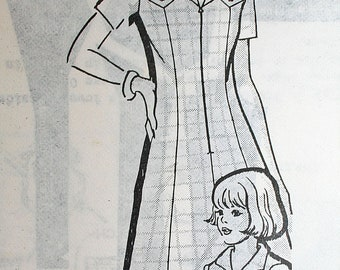 Vintage 70s Tailored Dress Sewing Pattern Mail Order Pattern from Pattern Service 1351 Size 10 Bust 32.5