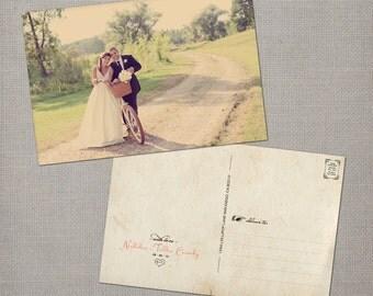 "Wedding Thank You Postcards, 4x6, Thank You Postcards, the ""Tahlia"""