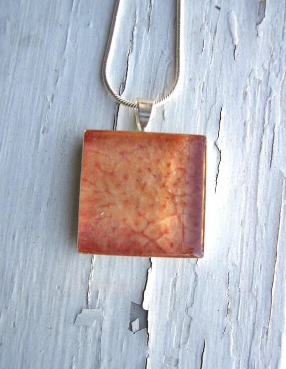 SALE Plum Pendant - Fruit Jewelry
