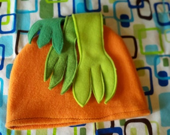 Carrot Top Fleece Veggie Hat