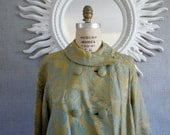 RESERVED 60's Tapestry Jacket/ Chartreuse/ Main Street Brand / Bell Sleeves
