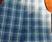 SALE Size 12 Month Baby Boy's Blue  Plaid Longall for Fall and Winter