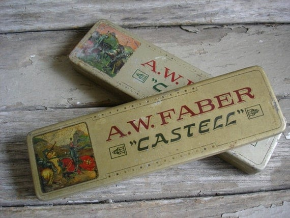 Old Metal A.W. Fabre Castell Pencil Tins