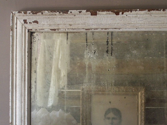 Antique Wooden Framed Mirror, Gorgeous Patina