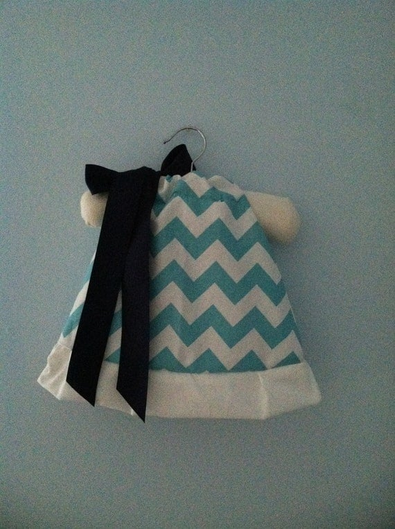 Fully Lined Chevron Dress with White Ruffle, NB-4T, More Colors Available