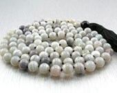 Soothing 108 Bead Mala with Natural Banded Agate and Onyx