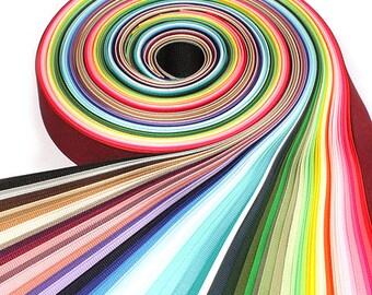 60Yards 15mm(5/8'') 60 Colors Solid Grosgrain Ribbon Set