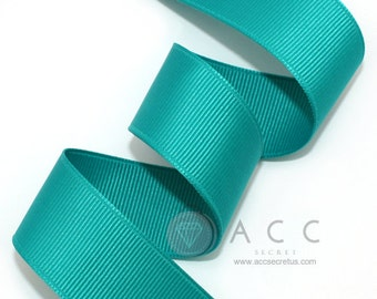 5Yards Turquoise Solid Grosgrain Ribbon - 5mm(2/8''), 10mm(3/8''), 15mm(5/8''), 25mm(1''), and 40mm(1 1/2'')