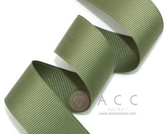 Dark Khaki Grosgrain Ribbon - 5mm(2/8''), 10mm(3/8''), 15mm(5/8''), 25mm(1''), and 40mm(1 1/2'')