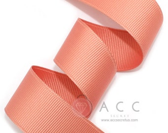 Persimmon Grosgrain Ribbon - 5mm(2/8''), 10mm(3/8''), 15mm(5/8''), 25mm(1''), and 40mm(1 1/2'')