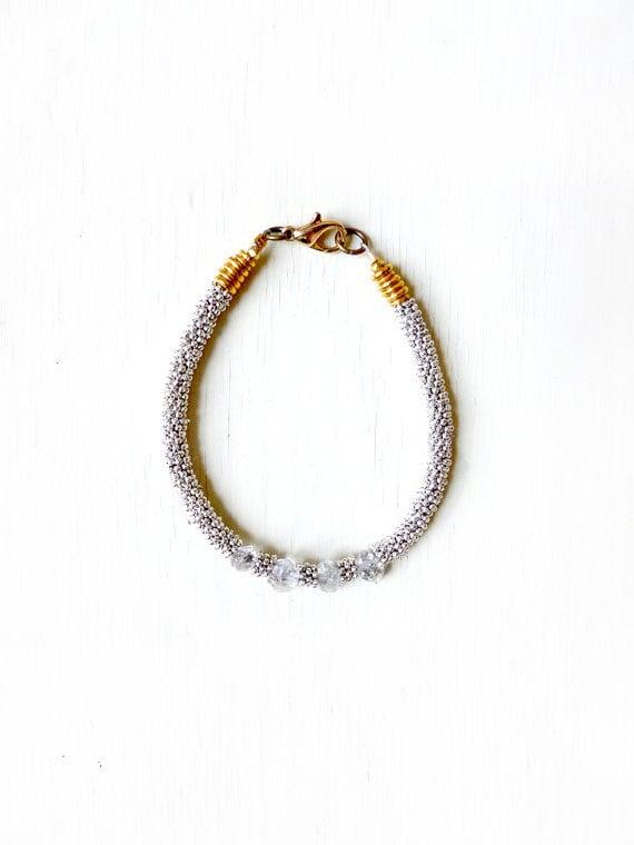Diamond spiked bracelet