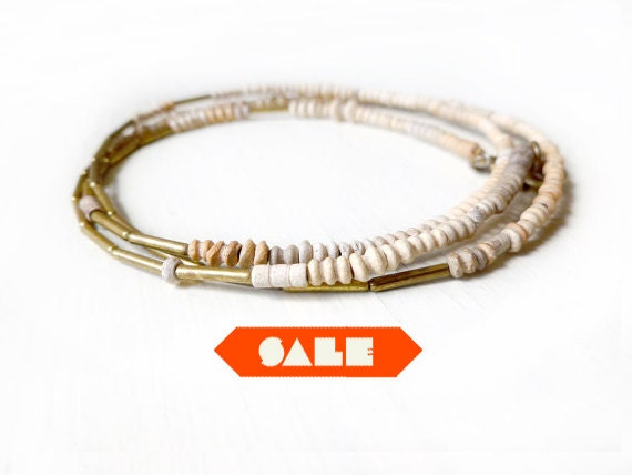 RESERVED for woodley SALE terracota wrap bracelet and necklace