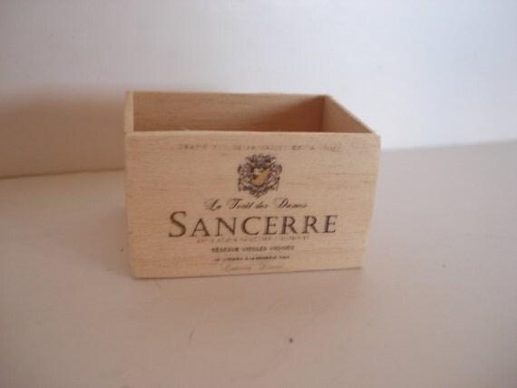 Miniature Sancerre wooden crate