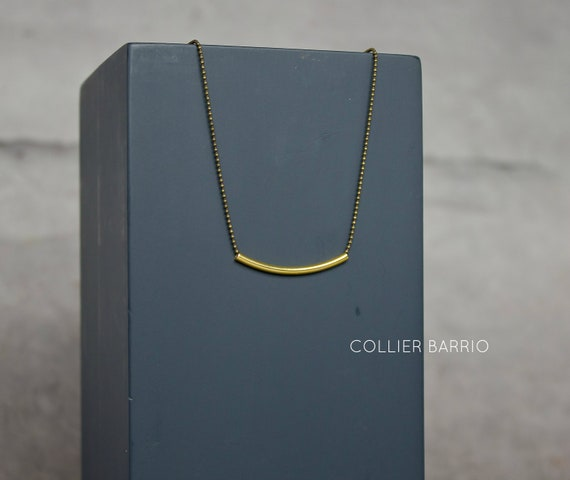 WARM MY SOUL - Barrio necklace : tiny ball chain in golden tube