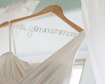 Personalized Custom Brides Wedding Dress Hanger