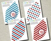 Carnival Birthday Party Hats - INSTANT DOWNLOAD