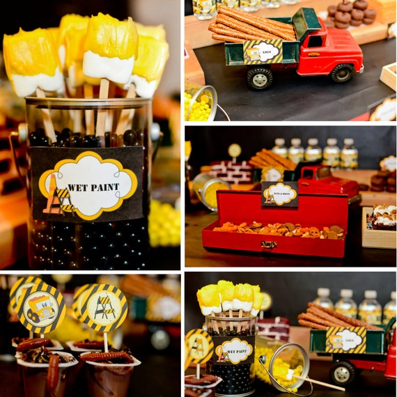 Construction Party Package - DIY - Forever Your Prints