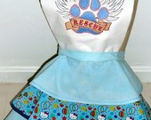 Hello Kitty Pet Rescue Full Retro Diner Apron, Crazy Cat lady apron, rescue apron, close out cat apron -- ready to ship-- shipping included.