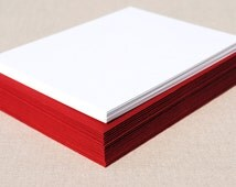 Blank Card Set with Red Envelopes - Set of 20 Flat A2 Size Cards