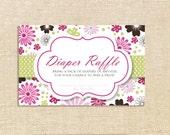 Diaper Raffle Tickets - Flowers - set of 12