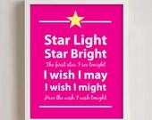 8 x 10 Starlight starbright wall print