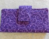 Fabric Wallet - Purple Swirls