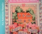 "Vintage Cross Stitch Pattern Book ""Home Is Where the Heart Is"""