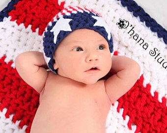 American Flag Photography Prop Four Piece Set- Fourth of July