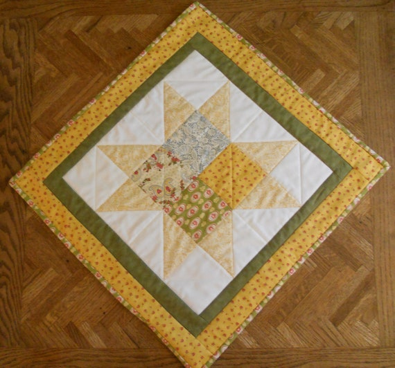 Country Chic Fall Harvest Star Quilted Table Topper