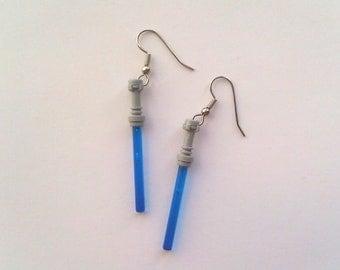 BLUE Star Wars Lightsaber Earrings