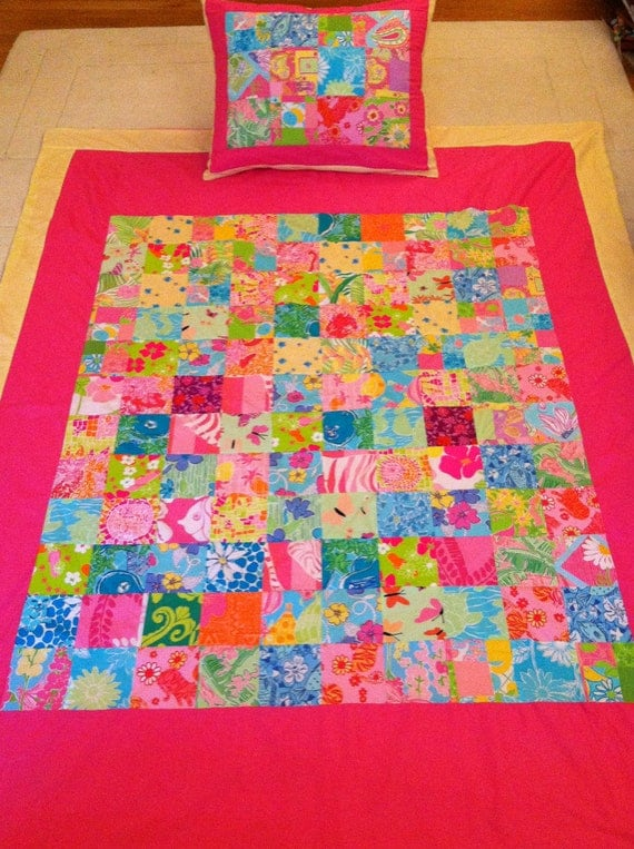 Items similar to New Lilly Pulitzer Twin Size Quilt ...