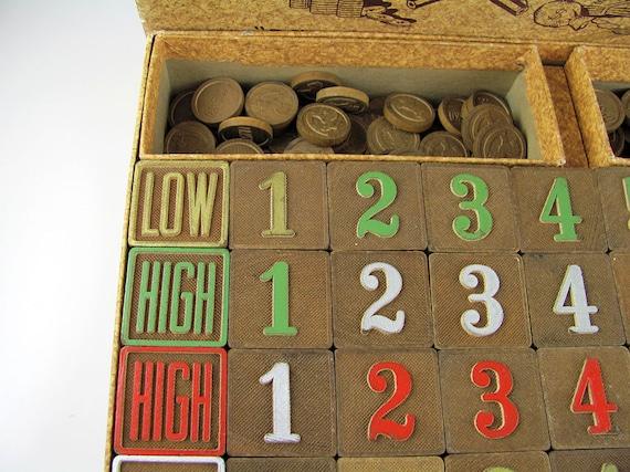 Wood blocks Wooden tokens numbered tiles blocks horse tokens Frisko Game Toy