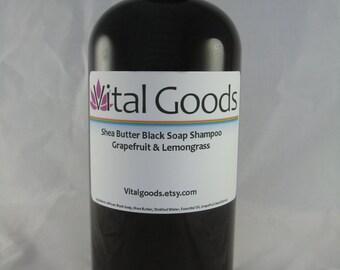 African black soap shea butter shampoo Grapefruit Lemongrass12oz dreadlock shampoo