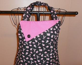 Pink Ribbon and Ladybugs Apron
